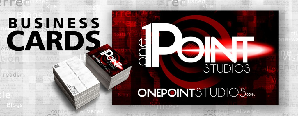 Onepoint studios business cards view our gallery of business card designs reheart Images